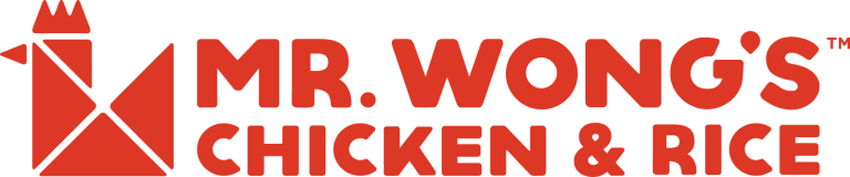 Logotipo original de Mr.Wong's Chicken & Rice rojo